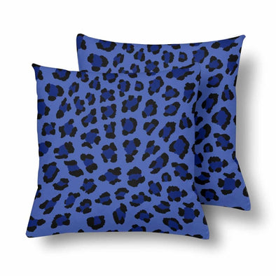 18 x 18 Throw Pillows (2) - Custom Leopard Pattern - Blue Leopard - Housewares big cats housewares leopards pillows