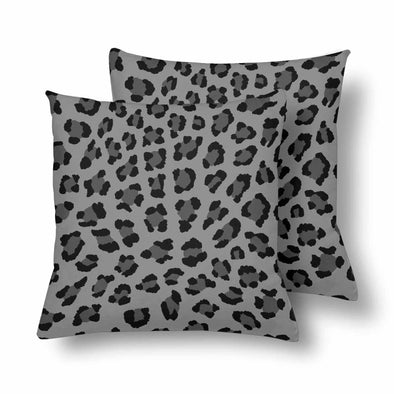 18 x 18 Throw Pillows (2) - Custom Leopard Pattern - Gray Leopard - Housewares big cats housewares leopards pillows