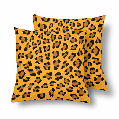 18 x 18 Throw Pillows (2) - Custom Leopard Pattern - Orange Leopard - Housewares big cats housewares leopards pillows