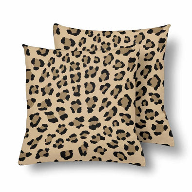 18 x 18 Throw Pillows (2) - Custom Leopard Pattern - Tan Leopard - Housewares big cats housewares leopards pillows