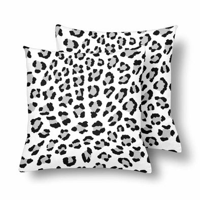 18 x 18 Throw Pillows (2) - Custom Leopard Pattern - White Leopard - Housewares big cats housewares leopards pillows