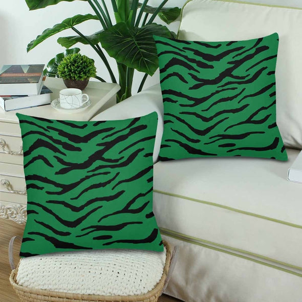 18 x 18 Throw Pillows (2) - Custom Tiger Pattern - Housewares big cats housewares pillows tigers