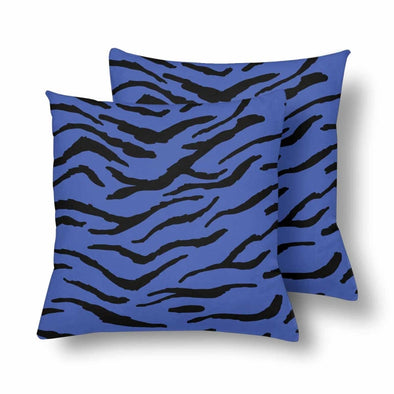 18 x 18 Throw Pillows (2) - Custom Tiger Pattern - Blue Tiger - Housewares big cats housewares pillows tigers