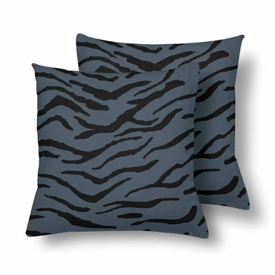 18 x 18 Throw Pillows (2) - Custom Tiger Pattern - Charcoal Tiger - Housewares big cats housewares pillows tigers