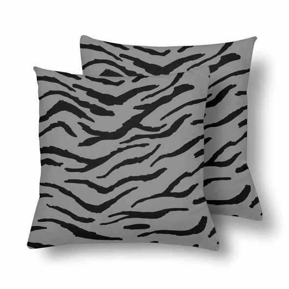 18 x 18 Throw Pillows (2) - Custom Tiger Pattern - Gray Tiger - Housewares big cats housewares pillows tigers