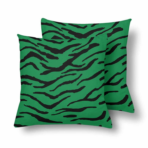 18 x 18 Throw Pillows (2) - Custom Tiger Pattern - Green Tiger - Housewares big cats housewares pillows tigers