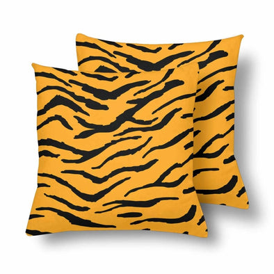 18 x 18 Throw Pillows (2) - Custom Tiger Pattern - Orange Tiger - Housewares big cats housewares pillows tigers