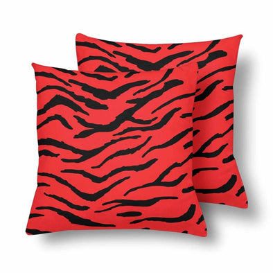 18 x 18 Throw Pillows (2) - Custom Tiger Pattern - Red Tiger - Housewares big cats housewares pillows tigers