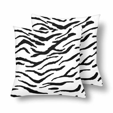18 x 18 Throw Pillows (2) - Custom Tiger Pattern - White Tiger - Housewares big cats housewares pillows tigers