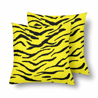 18 x 18 Throw Pillows (2) - Custom Tiger Pattern - Yellow Tiger - Housewares big cats housewares pillows tigers
