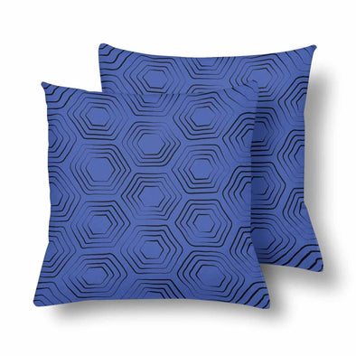 18 x 18 Throw Pillows (2) - Custom Turtle Pattern - Blue Turtle - Housewares housewares pillows turtles