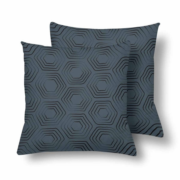 18 x 18 Throw Pillows (2) - Custom Turtle Pattern - Charcoal Turtle - Housewares housewares pillows turtles