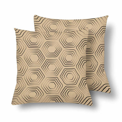 18 x 18 Throw Pillows (2) - Custom Turtle Pattern - Cream Turtle - Housewares housewares pillows turtles