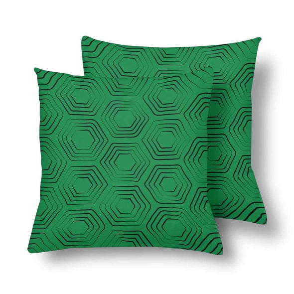 18 x 18 Throw Pillows (2) - Custom Turtle Pattern - Green Turtle - Housewares housewares pillows turtles