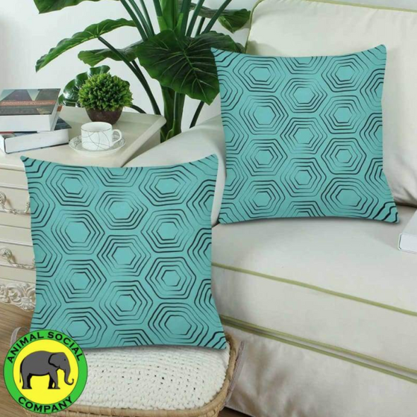 18 x 18 Throw Pillows (2) - Custom Turtle Pattern - Housewares housewares pillows turtles