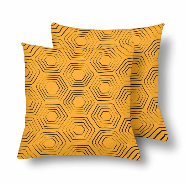 18 x 18 Throw Pillows (2) - Custom Turtle Pattern - Orange Turtle - Housewares housewares pillows turtles