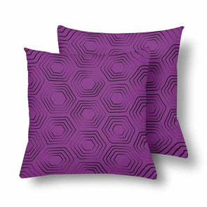 18 x 18 Throw Pillows (2) - Custom Turtle Pattern - Purple Turtle - Housewares housewares pillows turtles