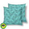 18 x 18 Throw Pillows (2) - Custom Turtle Pattern - Turquoise Turtle - Housewares housewares pillows turtles