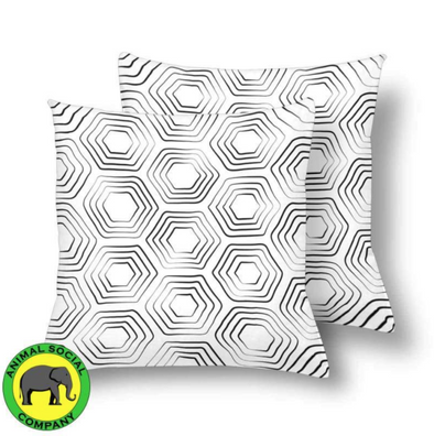 18 x 18 Throw Pillows (2) - Custom Turtle Pattern - White Turtle - Housewares housewares pillows turtles