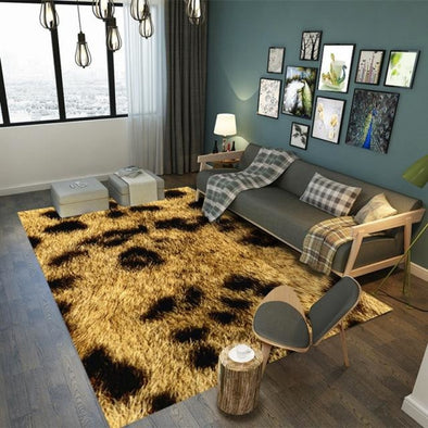 Animal Pattern Area Rug - Leopard Jaguar Tiger Zebra Giraffe Cow Snake - Housewares big cats cheetahs floor mats giraffes jaguars