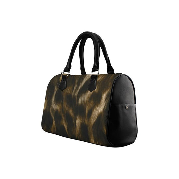 Boston Handbag Purse - Custom Animal Fur Prints - Accessories big cats hot new items