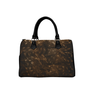 Boston Handbag Purse - Custom Animal Fur Prints - Brown - Accessories big cats hot new items