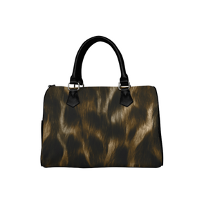 Boston Handbag Purse - Custom Animal Fur Prints - Brown Black - Accessories big cats hot new items