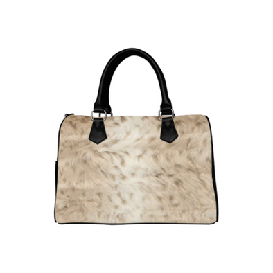 Boston Handbag Purse - Custom Animal Fur Prints - Tan - Accessories big cats hot new items