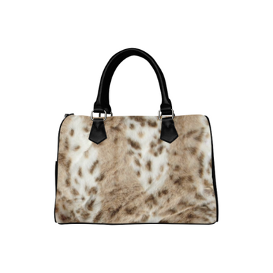 Boston Handbag Purse - Custom Animal Fur Prints - White Cream - Accessories big cats hot new items