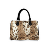 Boston Handbag Purse - Custom Animal Fur Prints - White Tan - Accessories big cats hot new items