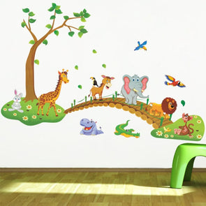 Cartoon Animal Forest Wall Sticker - Wall Art wall stickers
