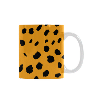 Ceramic Coffee Mugs (Pair) - Custom Cheetah Pattern - Housewares big cats cheetahs housewares