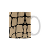 Ceramic Coffee Mugs (Pair) - Custom Giraffe Pattern - Housewares giraffes housewares