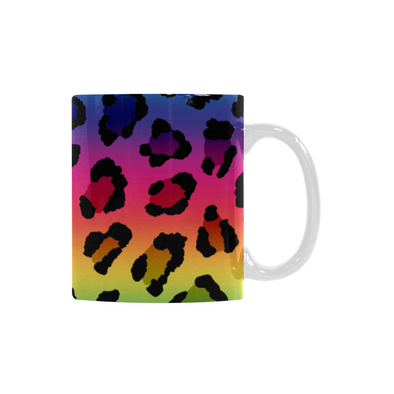 Ceramic Coffee Mugs (Pair) - Custom Leopard Pattern - Housewares big cats housewares leopards