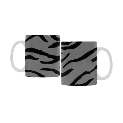 Ceramic Coffee Mugs (Pair) - Custom Tiger Pattern - Gray - Housewares big cats housewares tigers
