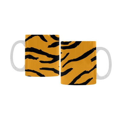 Ceramic Coffee Mugs (Pair) - Custom Tiger Pattern - Orange - Housewares big cats housewares tigers