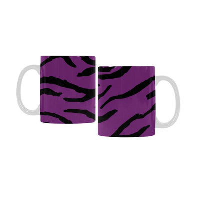 Ceramic Coffee Mugs (Pair) - Custom Tiger Pattern - Purple - Housewares big cats housewares tigers