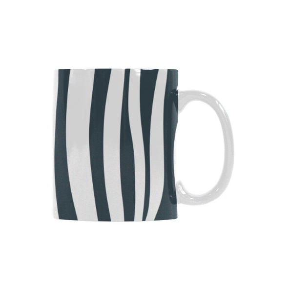 Ceramic Coffee Mugs (Pair) - Custom Zebra Pattern - Housewares housewares zebras