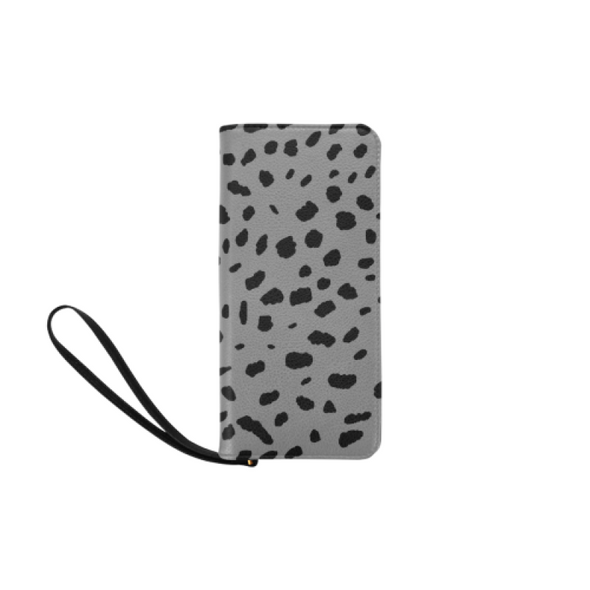 Clutch Purse - Custom Cheetah Pattern - Gray Cheetah - Accessories big cats cheetahs purses