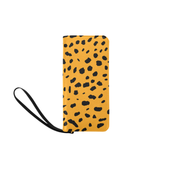 Clutch Purse - Custom Cheetah Pattern - Orange Cheetah - Accessories big cats cheetahs purses