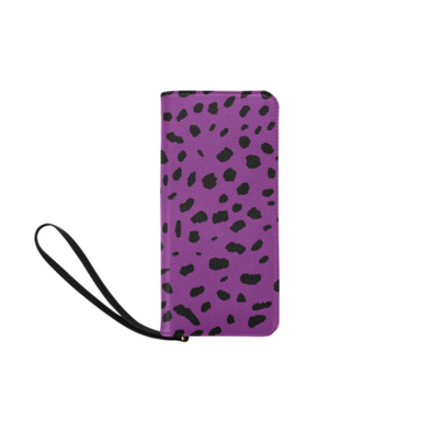 Clutch Purse - Custom Cheetah Pattern - Purple Cheetah - Accessories big cats cheetahs purses