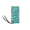 Clutch Purse - Custom Cheetah Pattern - Turquoise Cheetah - Accessories big cats cheetahs purses
