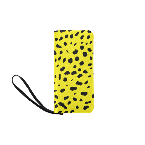 Clutch Purse - Custom Cheetah Pattern - Yellow Cheetah - Accessories big cats cheetahs purses