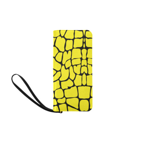 Clutch Purse - Custom Giraffe Pattern - Yellow Giraffe - Accessories giraffes purses