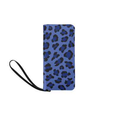 Clutch Purse - Custom Leopard Pattern - 2 - Blue Leopard - Accessories big cats leopards purses