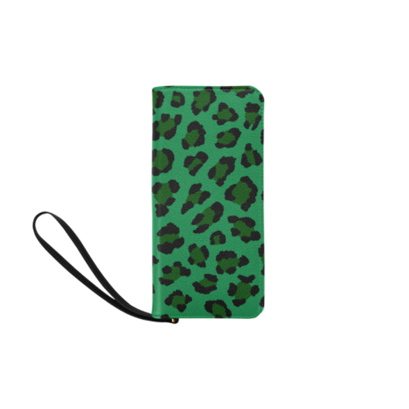 Clutch Purse - Custom Leopard Pattern - 2 - Green Leopard - Accessories big cats leopards purses