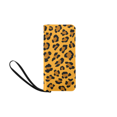 Clutch Purse - Custom Leopard Pattern - 2 - Orange Leopard - Accessories big cats leopards purses