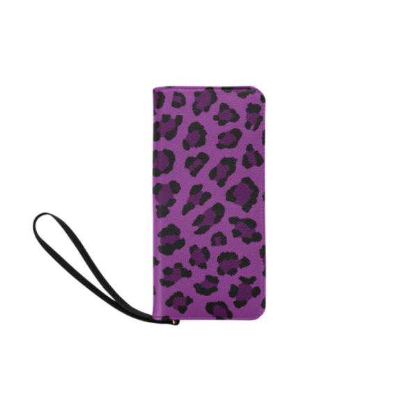 Clutch Purse - Custom Leopard Pattern - 2 - Purple Leopard - Accessories big cats leopards purses