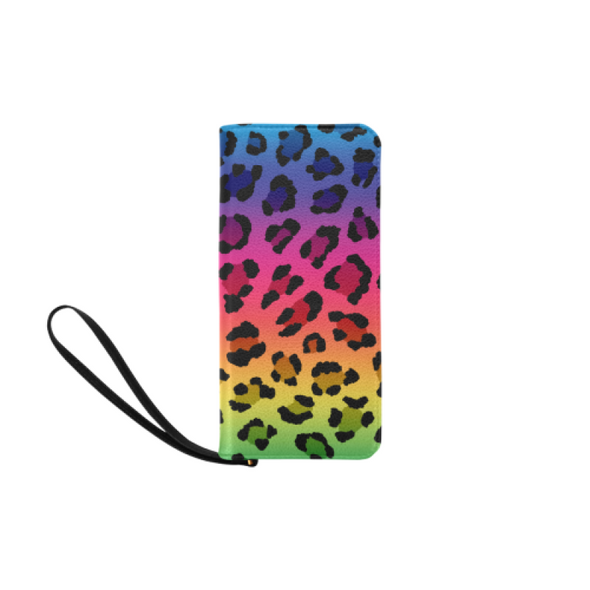 Clutch Purse - Custom Leopard Pattern - 2 - Rainbow Leopard - Accessories big cats leopards purses