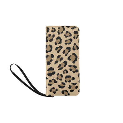 Clutch Purse - Custom Leopard Pattern - 2 - Tan Leopard - Accessories big cats leopards purses